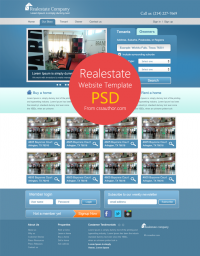 Real Estate Website Template PSD for Free Download - Freebie No: 47