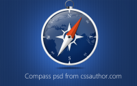 Beautiful Compass PSD for Free Download - Freebie No: 49