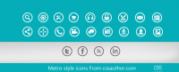 Beautiful Metro style icons PSD for Free Download - Freebie No: 52