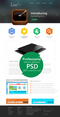 Professional Website Template Design PSD from CSS Author - Freebie No: 54