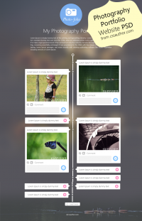 Photography Portfolio Website Template Design PSD from CSS Author - Freebie No: 55