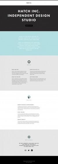 Hatch Inc - Graphic Design and Art Direction - Webdesign inspiration www.niceoneilike.com