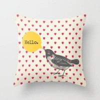 Hello Throw Pillow by Sreetama Ray | Society6
