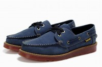 timberland mens classic 2 eye waterproof boat shoe royal blue for cheap
