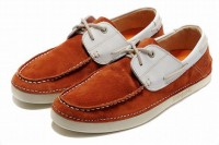 online timberland mens classic 2 eye boat shoe orangered and white