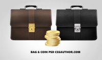 Free Bag and Coins Finance Icons PSD for Free Download - Freebie No: 60