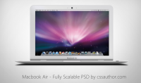Macbook Air - Fully Scalable PSD for Free Download - Freebie No: 62