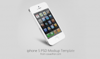 Beautiful iPhone 5 Mockup PSD Template for Free Download - Freebie No: 63