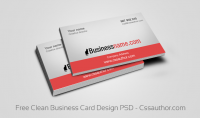 Download Free Business Card Templates PSD - Freebie No: 64