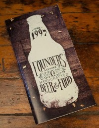 Founders Brewing Menu