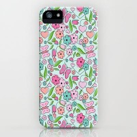 Sweetheart Aqua iPhone Case by Nina May | Society6