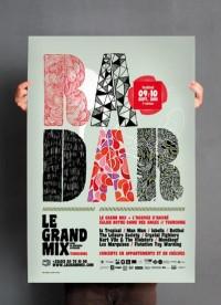 Les produits de l'épicerie / design graphique / Festival Radar 2011 / Le grand mix