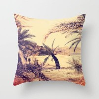 Palmtreesbeach Throw Pillow by pascal+ | Society6
