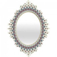 DENY Designs Home Accessories | Belle13 Paisley Mandala Love Baroque Mirror on Wanelo