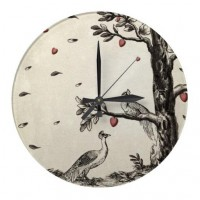 Romeo and Juliet vintage peacock version Wall Clock from Zazzle.com