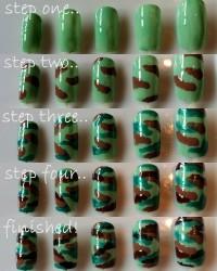 DIY Camouflage Nail Art DIY Projects | UsefulDIY.com