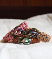 DIY: Leather + Climbing Rope Macrame Bracelets | Stripes & Sequins