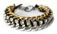 I Spy DIY: [my DIY] chain and rhinestone bracelet