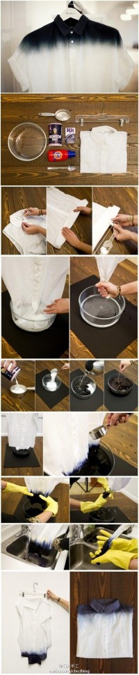DIY Dip Dye for Spring Folding Instructions | UsefulDIY.com