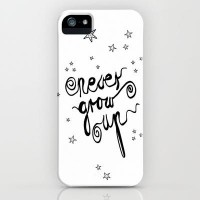 NEVER GROW UP iPhone Case by M?nika Strigel | Society6