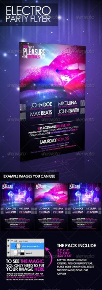 Print Templates - Electro Party Flyer | GraphicRiver