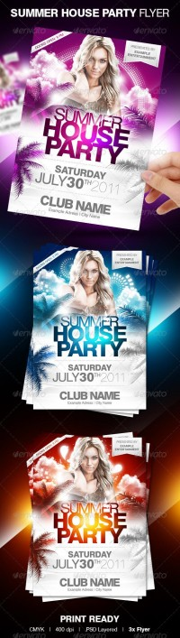 Print Templates - Summer House Party Flyer | GraphicRiver