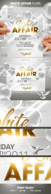 Print Templates - White Affair Party Flyer | GraphicRiver
