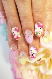 Hello Kitty Nail Art Designs for 2012 | Hello Kitty Addict