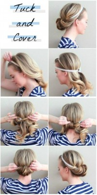 DIY Tuck and Cover Hairstyle DIY Projects | UsefulDIY.com