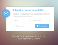 Minimal Email Newsletter Subscription Form PSD for Free Download - Freebie No: 71 - CSS Author is a Design and Development related blog