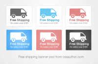 Beautiful Shipping Banner PSD for Free Download – Freebie No: 72