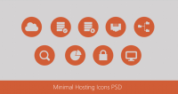Beautiful Minimal Hosting Icons PSD for Free Download - Freebie No: 75 - CSS Author is a Design and Development related blog