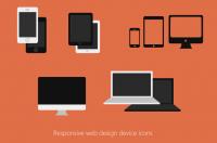 Responsive Web Design Devices Icon PSD