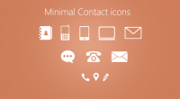 Minimal Contact Icons PSD for Free Download - Freebie No: 80