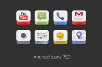 Android Icons PSD for Free Download - Freebie No: 86