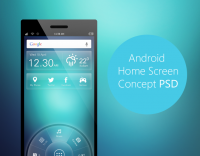 Android Home Screen Concept PSD - Freebie No: 87