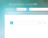 Flat Style Browser Concept PSD - Freebie No: 88
