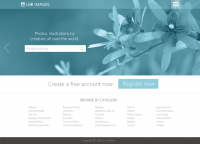 Stock Photos Website Template PSD for Free Download - Freebie No: 89