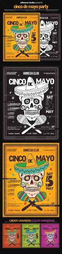 Print Templates - Cinco de Mayo Poster | GraphicRiver