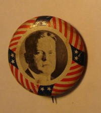 Campaign Button for Hoover elected in 1928 button by LyndasLoft