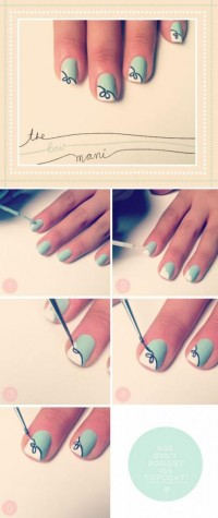 DIY Bow Nail Design Do It Yourself Fashion Tips | DIY Fashion Projects