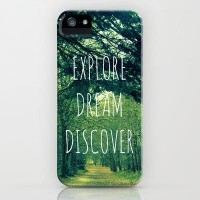 Explore. Dream. Discover. iPhone Case by Ally Coxon | Society6