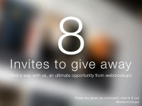 8 Dribbble Invites to give away by Webmockupz