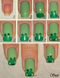 DIY Frog Nail Design Do It Yourself Fashion Tips | DIY Fashion Projects