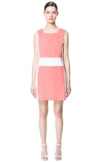 GEOMETRIC COMBINATION SHIFT DRESS - Dresses - Woman - ZARA United States