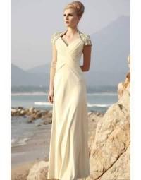 Diamond V-neck Sheath Long Evening Homecoming Dress [FCLA308041]- £ 188.61 - persunwedding.co.uk
