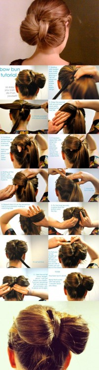 DIY Bow Bun Hairstyle Do It Yourself Fashion Tips | DIY Fashion Projects