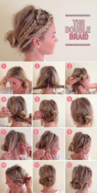 DIY Double Braid Hairstyle Do It Yourself Fashion Tips | DIY Fashion Projects