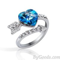 Sweet Arrows Of Love Heart Crystal Ring just $34.90 only in ByGoods.com