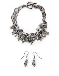 Owl Charm Bracelet & Earrings